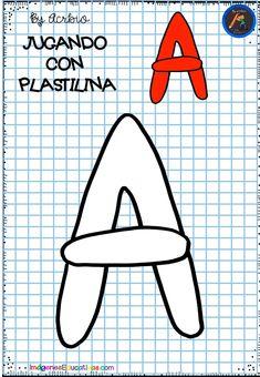 Plasticine, Fine Motor, Printables, Activities, Alphabet, Happy, Preschool Reading Activities, Educational Crafts, Infant Activities