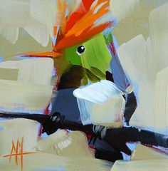 crested+coquette+painting.jpg (700×712)
