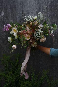 Blush bridal bouquet by hedgerow flower company for a beautiful August wedding in Nova Scotia. Floral Wedding, Wedding Bouquets, Wedding Flowers, Wedding Dresses, Floral Headdress, Flower Company, Moon Garden, August Wedding, David Austin