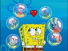 Spongebob_&_6_Bubbles_With_The_Following_Characters_Patrick,_Plankton,_Squidward,_Mr._Krabs,_Sandy,_&_Gary.jpg (1152×864)