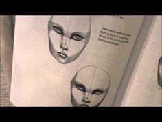 Using books for inspiration:  learning to draw a face in a new way!