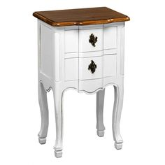 Serena Table, Two Drawers, MDF/Paulownia Wood/Distressed Finish