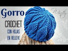 Learn to crochet beautiful beanie hat with leaves. We've brought you very easy tutorial that must be very informative, simple and clear for you. Crochet Beanie Hat, Crochet Cap, Love Crochet, Learn To Crochet, Knitted Hats, Crochet Poncho Patterns, Crochet Stitches, Crochet Leaves, Crochet Tablecloth