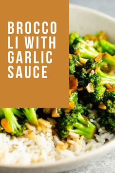 Broccoli With Garlic Sauce, Fresh Broccoli, Broccoli Cauliflower, Broccoli Beef, Broccoli Recipes, Cauliflower Recipes, Rice Recipes For Dinner, Homemade Chili, Evening Meals
