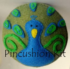 Peacock Pincushion Kit with Recycled felt.  item UNAVAILABLE.  cute idea.