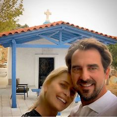 """Princess Tatiana of Greece celebrated her and Prince Nikolaos's sixth wedding anniversary on August 25 with this sweet photo. She captioned the snap, """"Happy Anniversary! Early morning walk to light a candle - celebrating SIX years today... #timeflies#grateful #love #happyingreece #naturalandhealthyliving #reasonsilovegreece."""" Photo: Instagram/@tatianablatnik"""