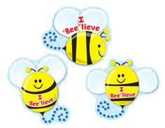 "I ""Bee""lieve stickers are great for all kinds of classroom & sunday school rewards. 72 per pack."