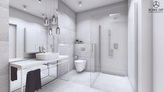 BOSKE ART, architektura wnętrz, projekt, dom, łazienka, minimalizm, nowoczesność, biel, szarość BOSKE ART, interior design, design, home, house, bathroom, stairs, minimalistic, modern, white, gray Aspen Park, Dom, Bathtub, House, Standing Bath, Bathtubs, Home, Bath Tube, Homes