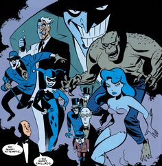 comicbookvault:  BATMAN'S ROGUES GALLERY by Bruce Timm