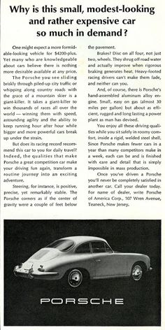 Sell Me Yesteryear: Porsche Vintage Advertisements, Vintage Ads, Porsche 924s, Porsche Factory, Ferdinand Porsche, Vintage Porsche, Expensive Cars, Cool Cars, Dream Cars