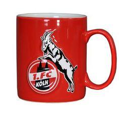Rote Tasse '1. FC Köln, Relief'. - Der KölnShop