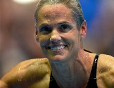 """""""The lesson is simple: If you want to achieve something, hard work and dedication—with a side of sweat and tears—will get you there. By pushing my body to the limits and going against the odds, I am showing [my daughter] Tessa that it's never too late to reach your goals.""""    Advice from Dara Torres - didn't realize she was 45, wow!"""
