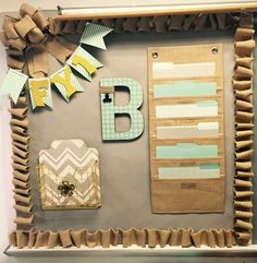 Love the way this turned out! Definitely fits perfectly with my 'shabby chic' theme in my classroom!