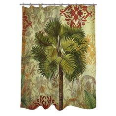 Shop for Thumbprintz Palms Pattern IV Shower Curtain. Get free delivery at Overstock.com - Your Online Bath