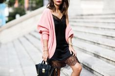 Pink and silk lace