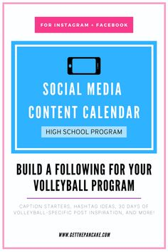 Head volleyball coaches need this for help running their program's social media accounts!!! Includes instructions and inspiration to get you started!  #volleyball #volleyballcoach #getthepancake