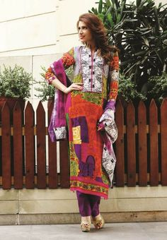 Multicolor Printed Georgette Unstitched Suit