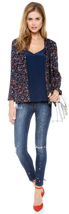 Ella Moss Posy Blazer & Siwy Ladonna Jeans