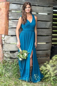 Chicloth V Neck Chiffon Bohemia Long Bridesmaid Dresses A beautiful blue dress, a perfect choice for bridesmaids, Chicloth is the perfect choice, prices are very affordable, 2 Piece Bridesmaid Dress, Fitted Bridesmaid Dresses, One Shoulder Bridesmaid Dresses, Affordable Bridesmaid Dresses, Blue Bridesmaids, Chiffon Dresses, Wedding Dresses, Dresses Dresses, Party Dresses