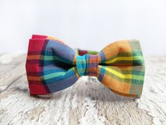 Men's Bow Tie by BartekDesign: pre tied red pink blue green rainbow neon colors birthday back to school prooms wedding