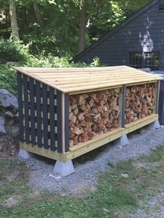 Best DIY Outdoor Firewood Rack Ideas You want to build a outdoor firewood rack? Here is a some firewood storage and creative firewood rack ideas for outdoors. Lots of great building tutorials and DIY-friendly inspirations! Outdoor Firewood Rack, Firewood Holder, Firewood Shed, Firewood Storage, Outdoor Storage, Backyard Sheds, Backyard Landscaping, Wood Storage Sheds, Building A Shed