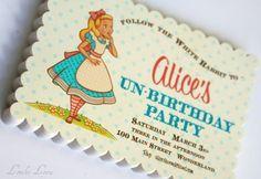 invitations birthday party invitations, disney parties, birthday parties, summer parties, alice in wonderland, company picnic, unbirthday parti, parti idea, pool parti