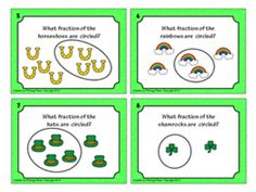 Fractions Task Cards - Part of a Group - St. Patrick's Day ($)