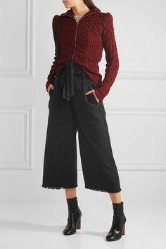 Étoile Isabel Marant | Odea cropped cotton-twill wide-leg pants | NET-A-PORTER.COM
