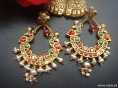 traditional kundan jhumke