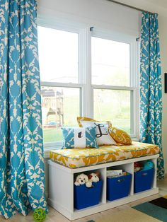 Window Seating and Storage for Kid's Room