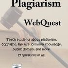 This one-page Plagiarism WebQuest challenges students to search the web to find answers to questions about plagiarism, copyright, fair use, common ...