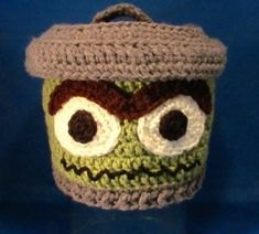 Oscar the Grouch Garbage Can Lid Beanie, made to order in all sizes