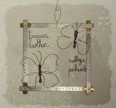 Collection de papillons - en fil de fer by latelierdesof