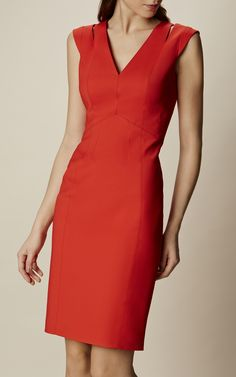 Shop Karen Millen's new collection of dresses, coats and tailoring for women now. Modest Dresses, Simple Dresses, Casual Dresses, Short Dresses, Fashion Dresses, Girl Fashion, Red Summer Dresses, Corporate Attire, Dresses To Wear To A Wedding