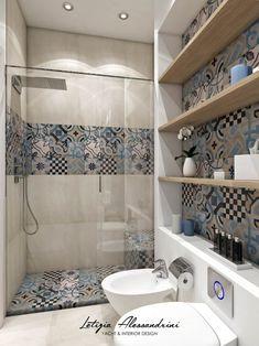 Modern Bathroom: Interior Design, Ideas and Photos l homify - Studio in Milan: Modern style bathroom by Letizia Alessandrini – Yacht & Interior Design - Simple Bathroom Designs, Bathroom Design Small, Bathroom Interior Design, Bathroom Styling, Modern Bathroom, Bathroom Storage, Master Bathroom, Italian Bathroom, Interior Decorating
