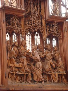 The Alter of The Holy Blood Detail: The Last Supper Carved by Tilman Riemenschneider at St James ~ Rothenburg ob der Tauber, Germany