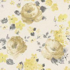 In voller Blüte erstrahlt das textil anmutende, hellbeige Vlies, dessen Blütenprint wie ein feines Ölgemälde auf einer Leinwand Platz nimmt. Prachtvoll-pastos wurden die Blütenkelche aufgetragen und hinterlassen beim Betrachter ein Gefühl der Romantik und Gemütlichkeit. Hier schlagen nicht nur Nostalgikerherzen höher.