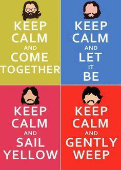 Keep Calm and listen Beatles