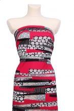 luxusní úplet se vzory v barvě Pink Yarrow