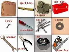 English for beginners: tools in english
