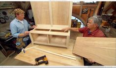 Learn how to build a storage bench for an entryway with Kevin O'Connor and Tom Silva.