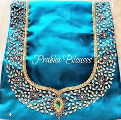 Kundan work embroidery