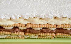 Hříšný dort s banány bez pečení | NejRecept.cz Czech Recipes, Croatian Recipes, Sweet Recipes, Cake Recipes, Dessert Recipes, Cakes And More, Graham Crackers, Creative Food, No Bake Cake