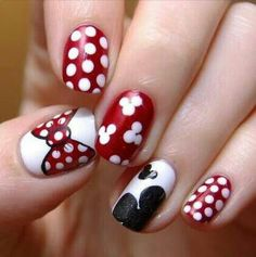 Miney mouse nails