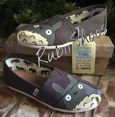 Women's Toms Ash Toms My Neighbor Totoro Studio by RubiiShoos