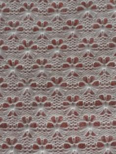 Flower Lace Knitting Stitches ~ Lace Knitting Stitch - Her Crochet Baby Knitting Patterns, Lace Knitting Stitches, Lace Patterns, Hand Knitting, Stitch Patterns, Crochet Patterns, Knitting Machine, Crochet Baby Socks, Sewing Crafts
