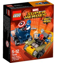 Match Captain America's Mighty Micros tank against Red Skull's vehicle with 2 missiles. Building Sets For Kids, Lego Jurassic, Captain America Shield, Lego Marvel Super Heroes, Buy Lego, Developmental Toys, Kits For Kids, Baby Disney, Lego Sets