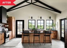 Post Image Barn Kitchen, Barn Renovation, Inviting Home, Modern Barn, Concrete Floors, Cozy House, Fixer Upper, Cottage Style, Home Kitchens