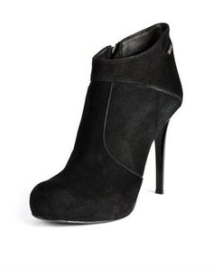 GF Ferre Leather Heeled Booties - Booties - Shoes at Viomart.com