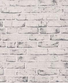 Rustic Brick Grey Wallpaper By Albany
